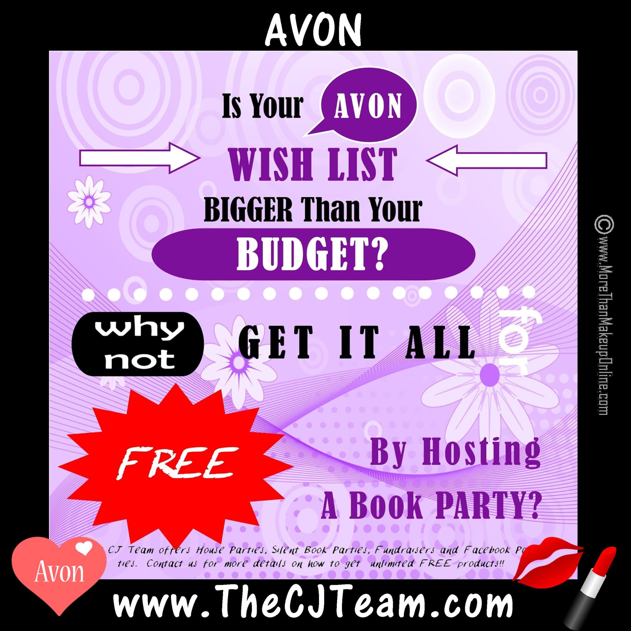 Host an Avon Book Party - More Than Makeup Online