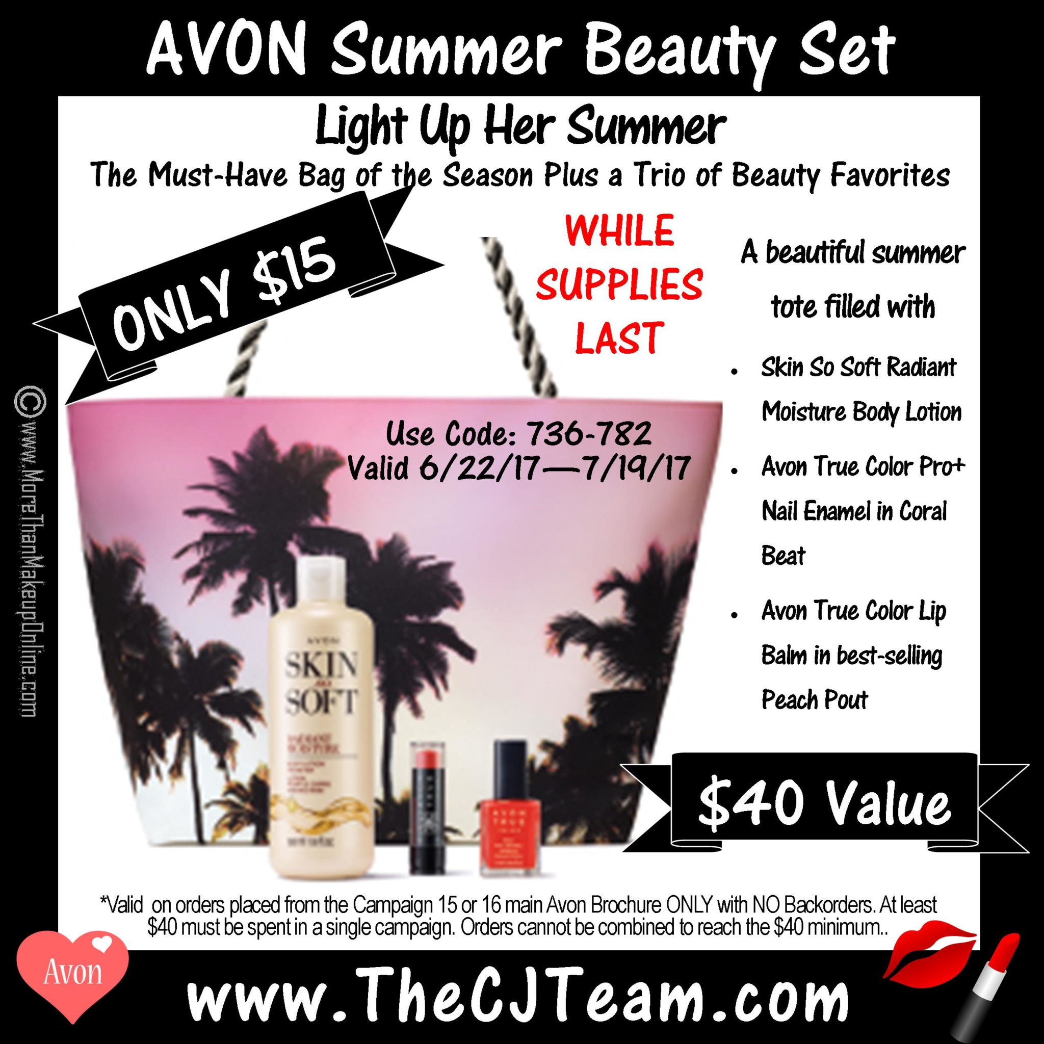 Gift With Purchase Avon Summer Beauty Set - More Than Makeup Online