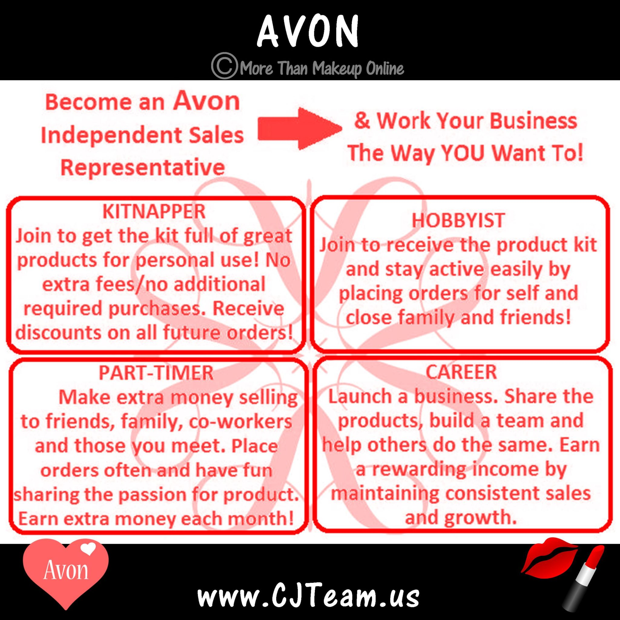 Work an Avon Business the Way YOU Want! - More Than Makeup Online